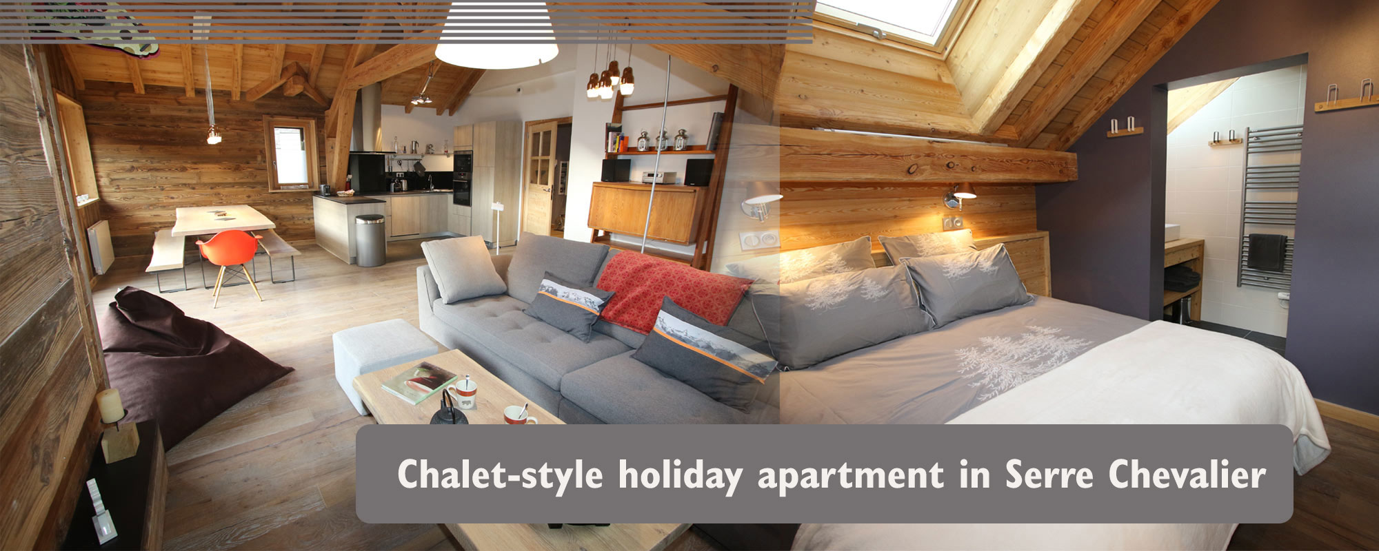 Chalet style holiday apartment in Serre Chevalier